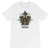 Official Caparison Guitars Tattoo design T-Shirt, full colour print.