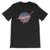 Official Caparison Guitars Orbit design T-Shirt, full colour print.