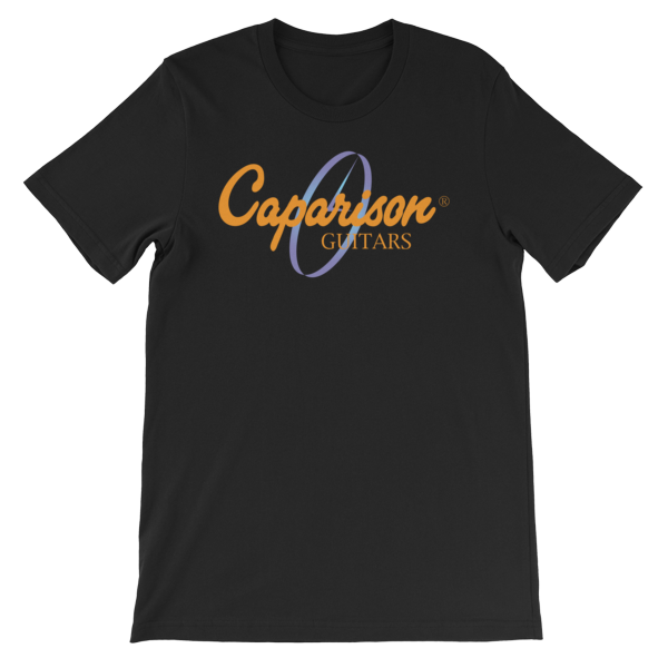 "Official Caparison Guitars ""Cold"" Clock Logo T-Shirt, full colour print."