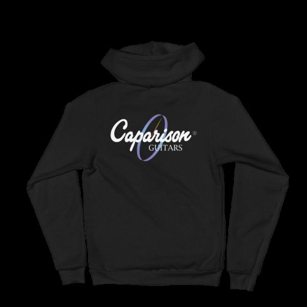 Caparison-Clock-White-Writing_mockup_Back_Flat_Black